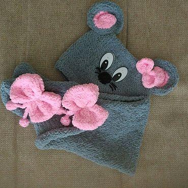 """Товары для малышей ручной работы. Ярмарка Мастеров - ручная работа Комплект для девочки """"Мышонок"""". Handmade."""