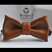 Аксессуары handmade. Livemaster - original item Tie Brown hair / dark red leather tie necktie. Handmade.