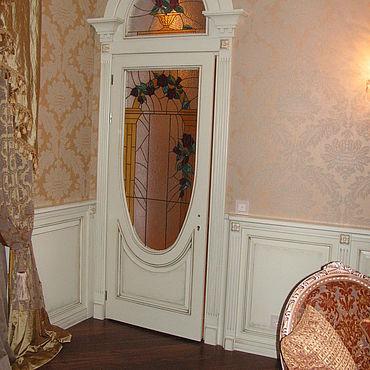 Для дома и интерьера ручной работы. Ярмарка Мастеров - ручная работа Двери с витражами на заказ. Handmade.