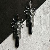 Украшения ручной работы. Ярмарка Мастеров - ручная работа Серьги Cicades Silver. Handmade.