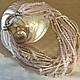 Колье, бусы ручной работы. Ярмарка Мастеров - ручная работа. Купить Кварцевое ожерелье из розового кварца и жемчуга. Handmade.