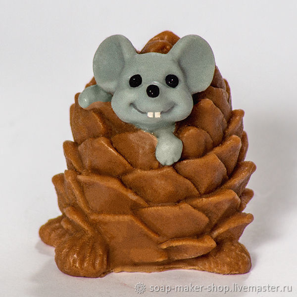 Form silicone soap 'Mouse in a cone 3D», Form, Shahty,  Фото №1