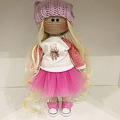 Куклы Тильда ручной работы. Ярмарка Мастеров - ручная работа Вязаная куколка , бесплатная доставка. Handmade.
