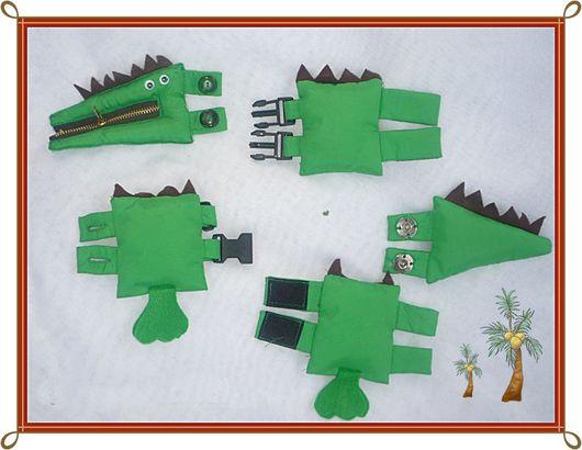 Развивающие игрушки ручной работы. Ярмарка Мастеров - ручная работа. Купить Застежка-крокодил. Handmade. Комбинированный, молния, моторика рук