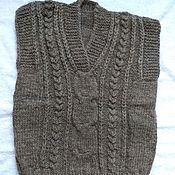 Одежда ручной работы. Ярмарка Мастеров - ручная работа Вязаный жилет.100% овечья шерсть. Handmade.