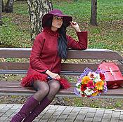 """Одежда ручной работы. Ярмарка Мастеров - ручная работа Пальто валяное """"Cherry bird"""". Handmade."""