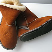 Обувь ручной работы handmade. Livemaster - original item Uggs made of sheepskin with hard soles. Handmade.