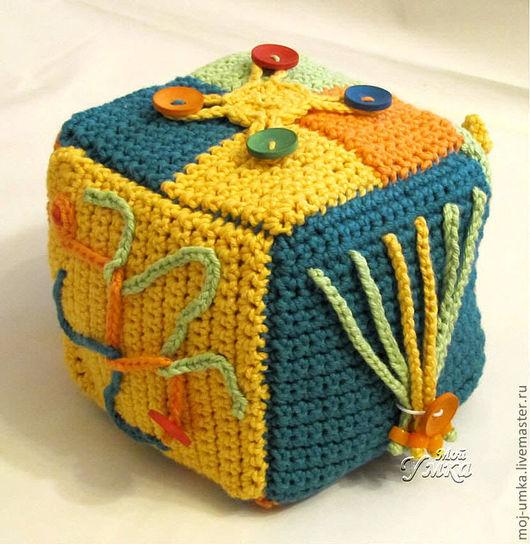 """Развивающие игрушки ручной работы. Ярмарка Мастеров - ручная работа. Купить Большой развивающий кубик """"Симба"""". Handmade. Развивающая игрушка"""