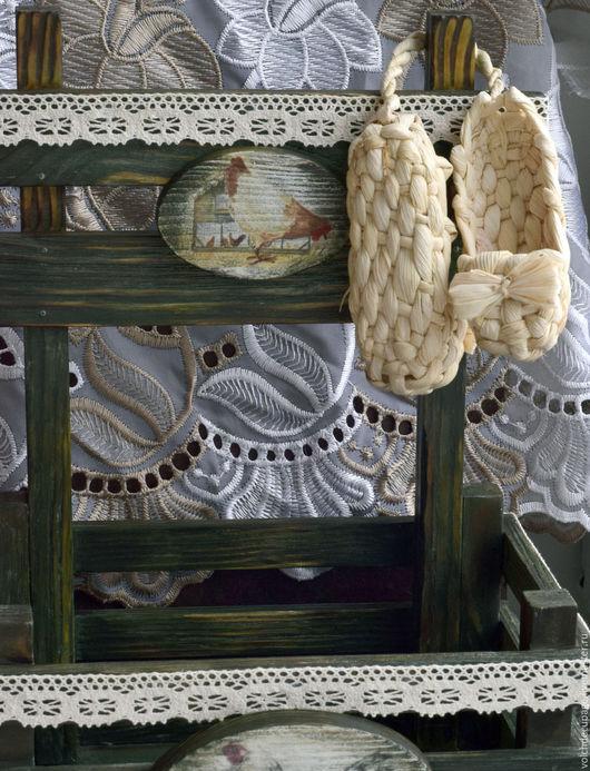 Кухня ручной работы. Ярмарка Мастеров - ручная работа. Купить Короб для кухни Птичий двор. Handmade. Зеленый, материалы для декупажа