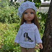 Куклы и игрушки handmade. Livemaster - original item Sweater, shorts, beret for doll Paola Reina