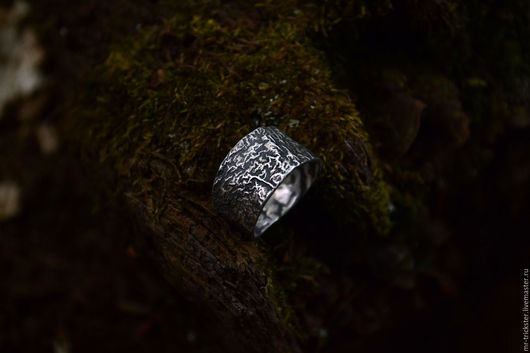 """Кольца ручной работы. Ярмарка Мастеров - ручная работа. Купить Кольцо """"Лава"""" из ретикулированного серебра. Handmade. Серебряный, текстурное кольцо"""