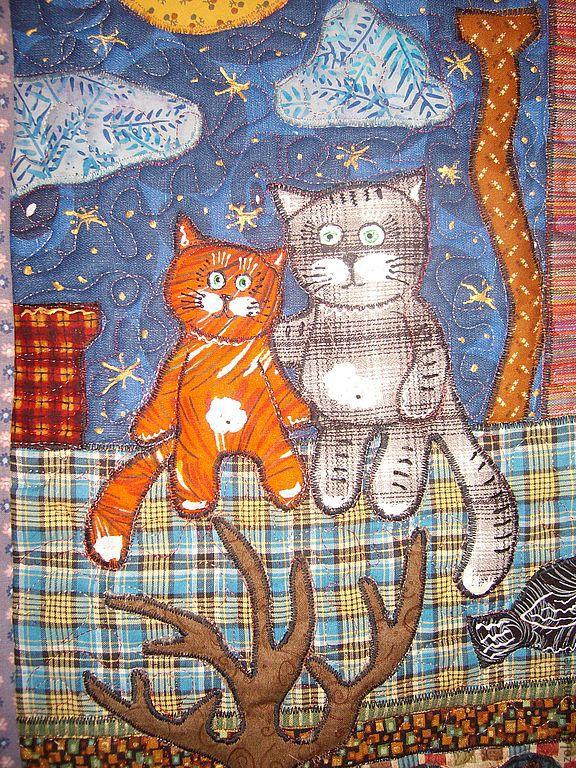 Пэчворк панно с кошками