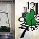 """Часы для дома ручной работы. Часы 36/26см """"Tilk-2"""". KODUMAJA (Ирина, работы из металла). Ярмарка Мастеров. стильный подарок"""