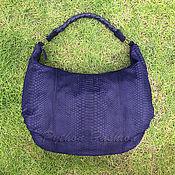 Сумки и аксессуары handmade. Livemaster - original item POLLY Python Hobo Bag. Handmade.