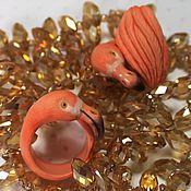 Кольца ручной работы. Ярмарка Мастеров - ручная работа Кольцо Фламинго. Handmade.