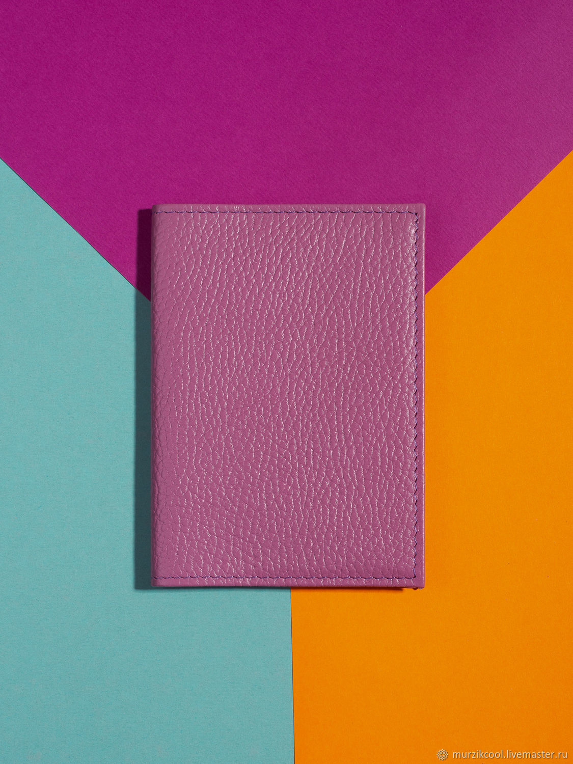 Passport cover 'Classic' Lilac, Cover, Moscow,  Фото №1