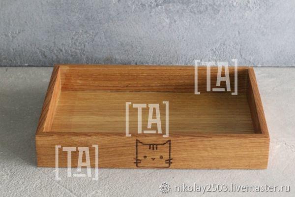 Деревянный поднос из массива дуба, Утварь, Санкт-Петербург,  Фото №1