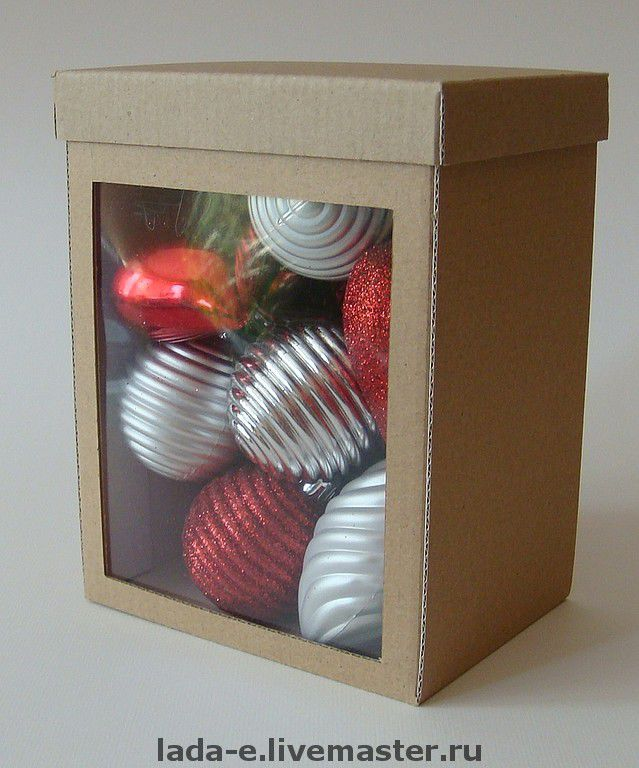 Box with side window made of cardboard, Gift wrap, Moscow,  Фото №1