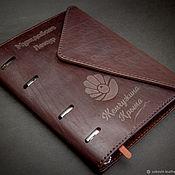 Блокноты ручной работы. Ярмарка Мастеров - ручная работа Блокнот органайзер кожаный А5. Handmade.