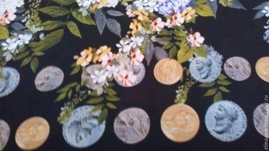 Шитье ручной работы. Ярмарка Мастеров - ручная работа. Купить ткань Dolce&Gabbana. Handmade. Разноцветный, ткань италия, кади