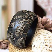 Украшения handmade. Livemaster - original item A wide bracelet made of polymer clay July. Handmade.