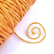 Материалы для творчества ручной работы. Ярмарка Мастеров - ручная работа Шнур из оранжевой бумаги с проволокой внутри. Handmade.
