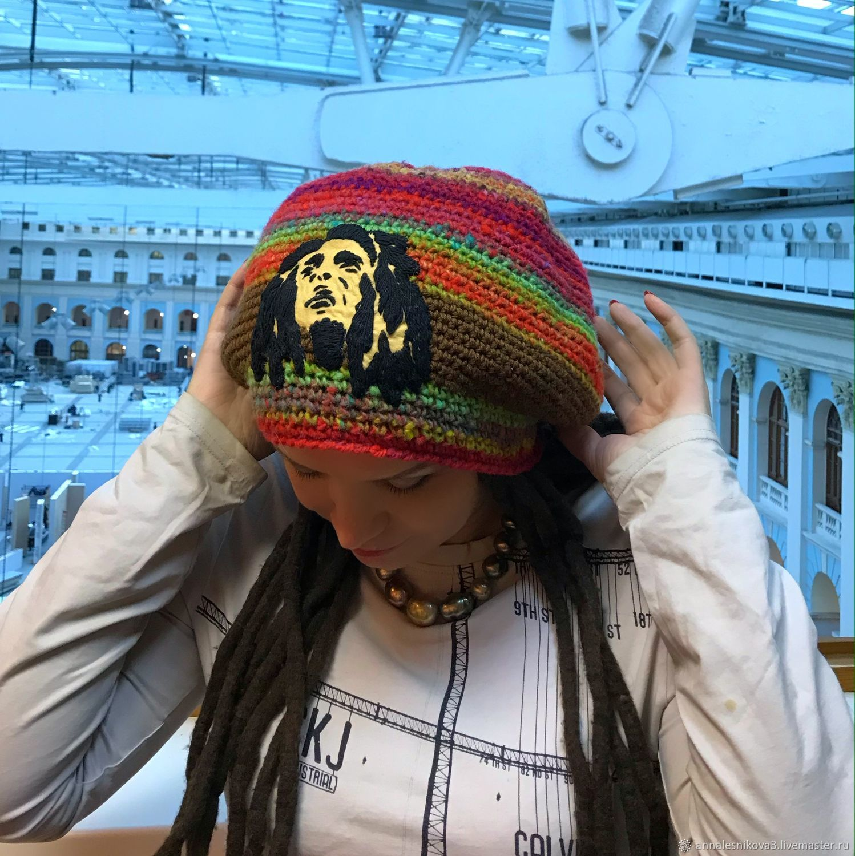 Берет растамана БОБ МАРЛИ - унисекс, Береты, Москва,  Фото №1
