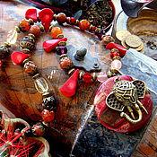 """Украшения ручной работы. Ярмарка Мастеров - ручная работа Колье """"Индийский слон"""". Handmade."""