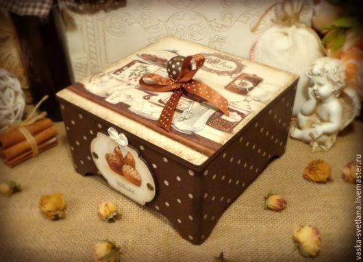 """Корзины, коробы ручной работы. Ярмарка Мастеров - ручная работа. Купить Короб для чая и сладостей """"Chocolats"""". Handmade. Короб"""