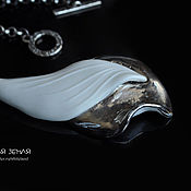 Pendants handmade. Livemaster - original item Porcelain pendant