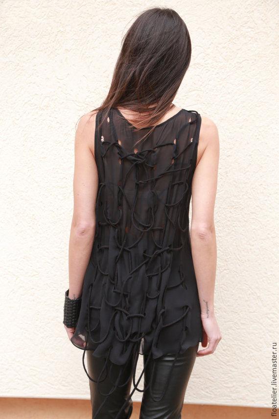Купить блузку черная