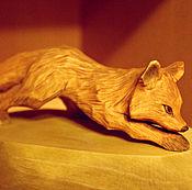 Статуэтки ручной работы. Ярмарка Мастеров - ручная работа лиса, ручная резьба по дереву. Handmade.