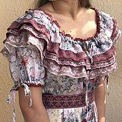 """Платья ручной работы. Ярмарка Мастеров - ручная работа Платье в стиле бохо """"Камелия. Нежные розы"""". Handmade."""
