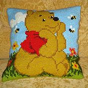 Для дома и интерьера ручной работы. Ярмарка Мастеров - ручная работа Вышитая детская подушка. Handmade.