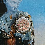 Украшения handmade. Livemaster - original item tenderness of roses. Brooch with embroidery. Handmade.