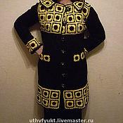 """Одежда ручной работы. Ярмарка Мастеров - ручная работа Пальто """"желтое на черном"""".  Авторская работа. Handmade."""