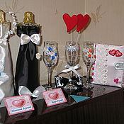 Свадебный салон ручной работы. Ярмарка Мастеров - ручная работа Набор свадебный. Handmade.