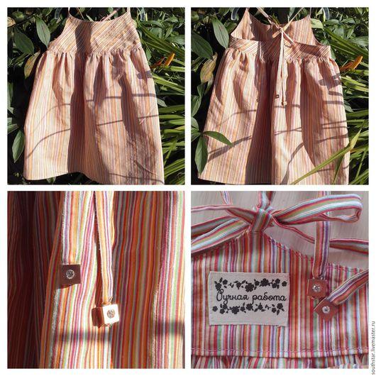 """Одежда для девочек, ручной работы. Ярмарка Мастеров - ручная работа. Купить Сарафан """"Карусель"""". Handmade. Комбинированный, в полоску, разноцветная"""