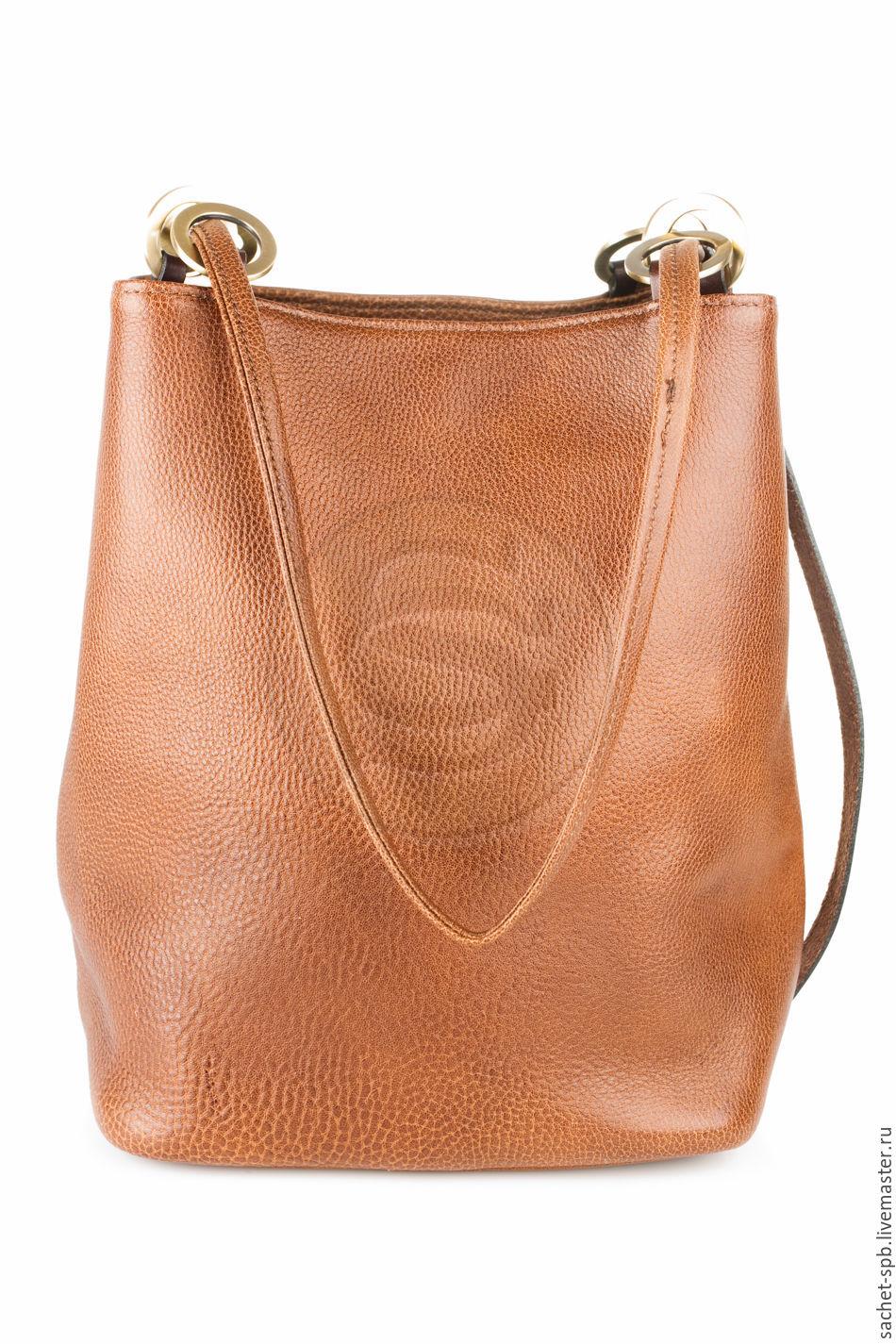 """Женские сумки ручной работы. Ярмарка Мастеров - ручная работа. Купить Женская кожаная сумка """"Хлоя"""" коричневая. Handmade. Коричневый"""