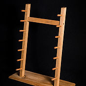Сувениры и подарки handmade. Livemaster - original item Stand for 7 knives with beech wood. Handmade.