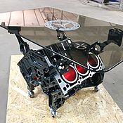 Столы ручной работы. Ярмарка Мастеров - ручная работа Журнальный стол из двигателя V6. Handmade.