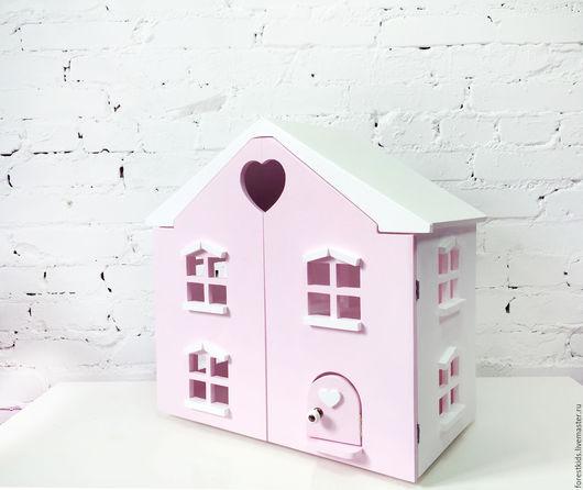 Кукольный дом ручной работы. Ярмарка Мастеров - ручная работа. Купить Кукольный дом. Handmade. Бледно-розовый, подарок, барби