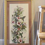 """Картины и панно ручной работы. Ярмарка Мастеров - ручная работа Вышитая картина """"Колибри"""". Handmade."""