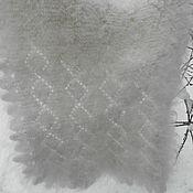 Аксессуары ручной работы. Ярмарка Мастеров - ручная работа палантин Подарочный Новогодний из козьего пуха. Handmade.