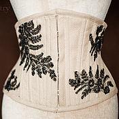 Одежда ручной работы. Ярмарка Мастеров - ручная работа корсет из шелка и антикварного кружева. Handmade.
