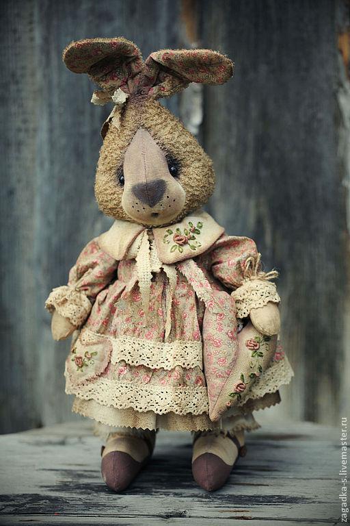 Ароматизированные куклы ручной работы. Ярмарка Мастеров - ручная работа. Купить Зайка.. Handmade. Кремовый, подарок, махровая ткань