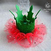 Hairpins handmade. Livemaster - original item Crown Christmas. Handmade.