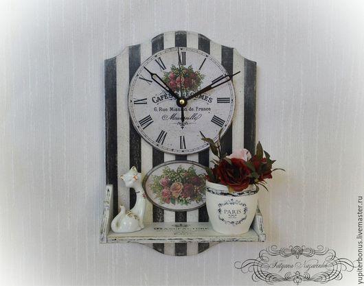 """Часы для дома ручной работы. Ярмарка Мастеров - ручная работа. Купить Часы """"Souvenirs"""". Handmade. Белый, часы настенные, розы"""