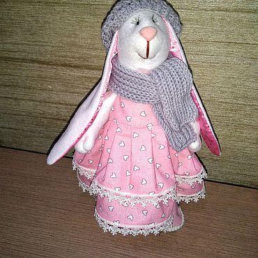Куклы и игрушки ручной работы. Ярмарка Мастеров - ручная работа Зайка текстильный. Handmade.