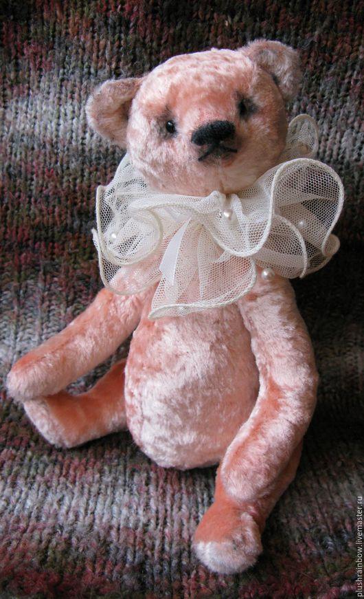 Мишки Тедди ручной работы. Ярмарка Мастеров - ручная работа. Купить Мишка плюшевый Перси. Handmade. Бледно-розовый, синтепух